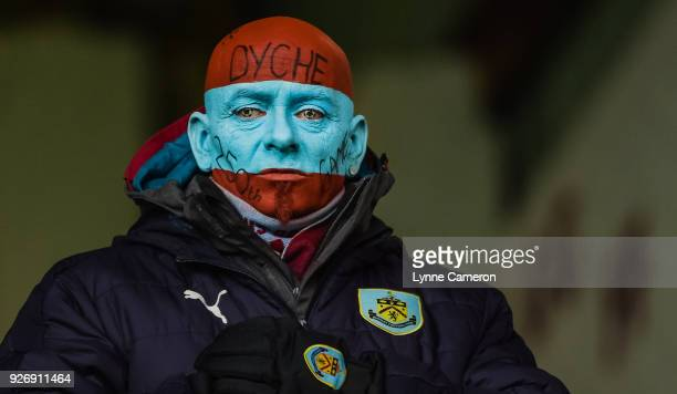 Burnley fan during the Premier League match between Burnley and Everton at Turf Moor on March 3 2018 in Burnley England