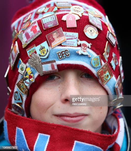 Burnley fan looks on prior to the Premier League match between Burnley FC and Brighton Hove Albion at Turf Moor on December 8 2018 in Burnley United...