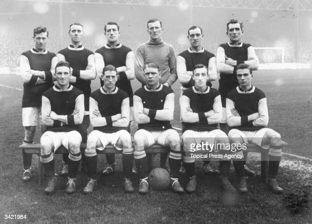 Burnley FC 1920 football team Back row left to right Watson Smelt Jones Dawson Boyle Halley Front row Nesbitt Kelly Anderson Cross Weaver