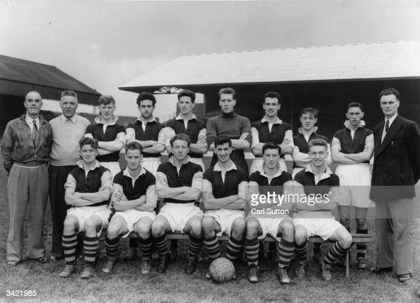 Burnley FC 1954 football team. Back row left to right R ...
