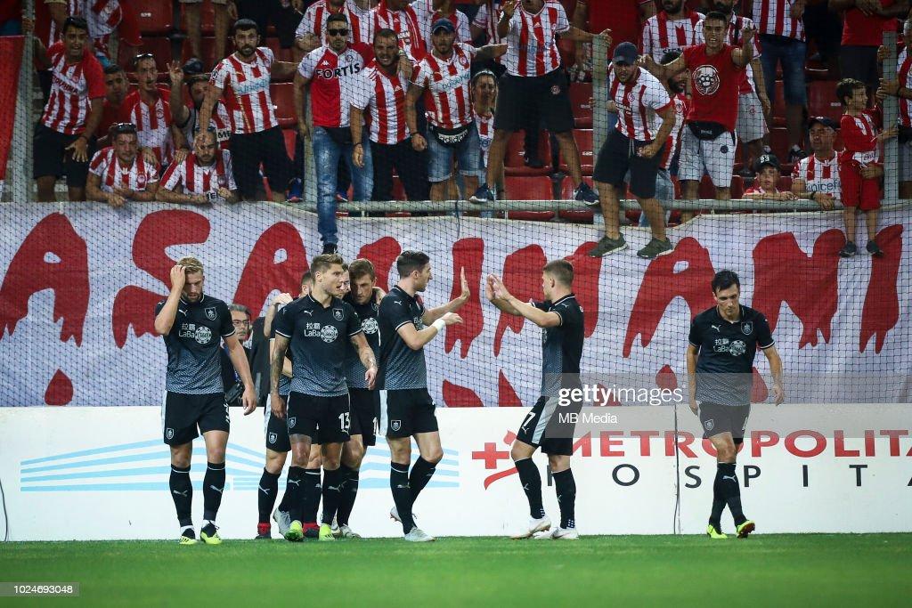 Olympiakos v Burnley - UEFA Europa League Qualifing Play-Off: Second Leg 1 : News Photo