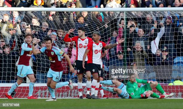 Burnley go 10 up during the Premier League match between Burnley and Southampton at Turf Moor on February 24 2018 in Burnley England