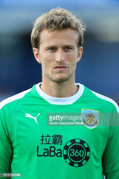Burnley goalkeeper Anders Lindegaard looks on ahead of the UEFA Europa League Second Qualifying Round 2nd Leg match between Burnley and Aberdeen at...
