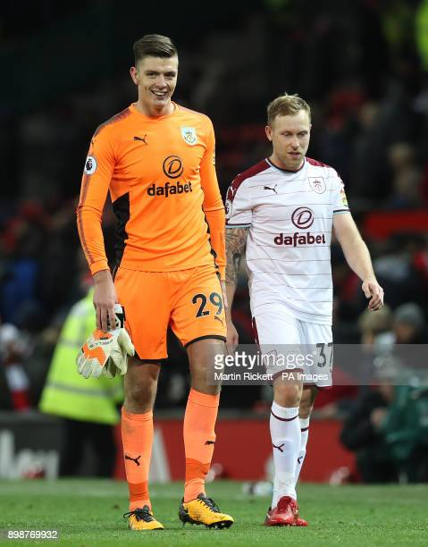 Burnley goalkeeper Nick Pope after the Premier League match at Old Trafford Manchester