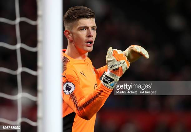 Burnley goalkeeper Nick Pope during the Premier League match at Old Trafford Manchester