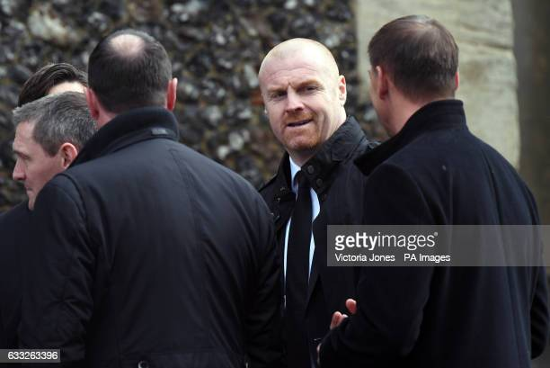 Burnley manager Sean Dyche ahead of the funeral service for Graham Taylor held at St Mary's Church Watford