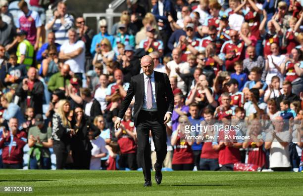 Burnley manager Sean Dyche before the game