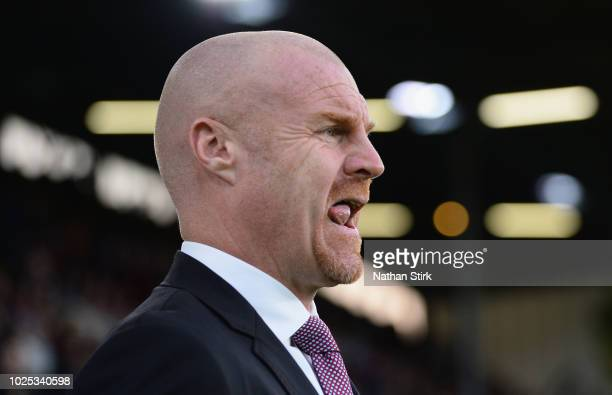 Burnley manager Sean Dyche before the UEFA Europa League qualifing second leg play off match between Burnley and Olympiakos at Turf Moor on August 30...