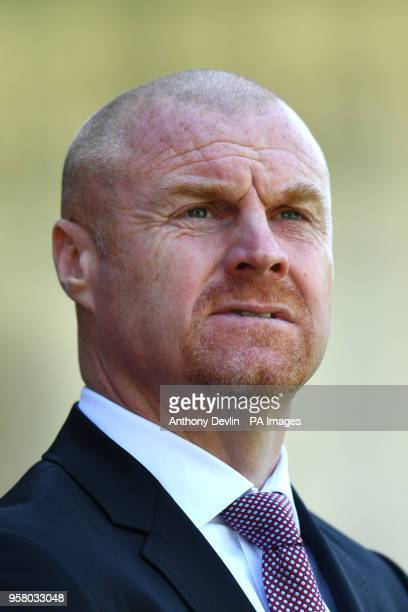 Burnley manager Sean Dyche during the Premier League match at Turf Moor Burnley