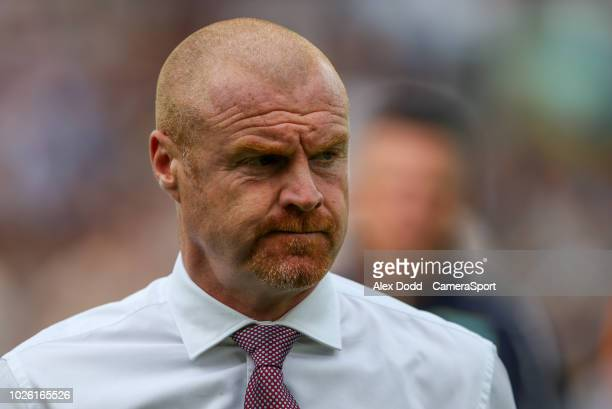 Burnley manager Sean Dyche during the Premier League match between Burnley FC and Manchester United at Turf Moor on September 2 2018 in Burnley...