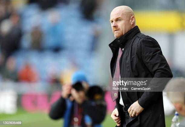 Burnley manager Sean Dyche during the Premier League match between Burnley FC and AFC Bournemouth at Turf Moor on February 22 2020 in Burnley United...