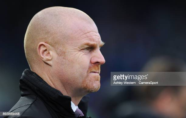 Burnley manager Sean Dyche during the Premier League match between Brighton and Hove Albion and Burnley at Amex Stadium on December 16 2017 in...