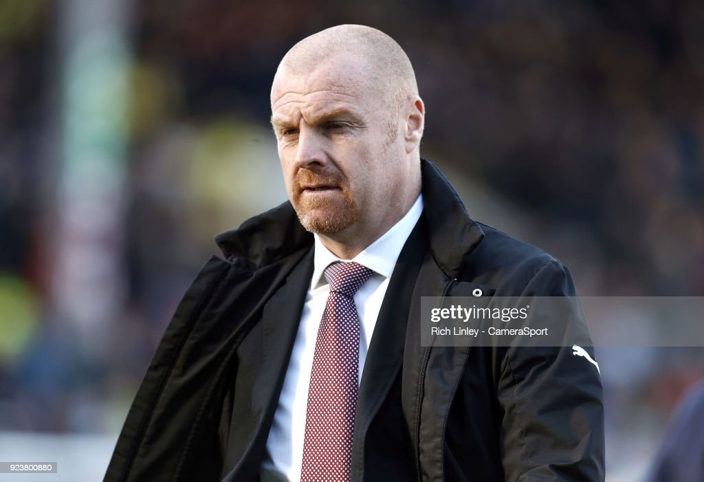 Burnley manager Sean Dyche during the Premier League match between Burnley and Southampton at Turf Moor on February 24, 2018 in Burnley, England.