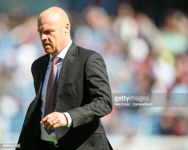 Burnley manager Sean Dyche during the Premier League match between Burnley and AFC Bournemouth at Turf Moor on May 13 2018 in Burnley England