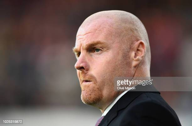 Burnley manager Sean Dyche looks on before the UEFA Europa League qualifing second leg play off match between Burnley and Olympiakos at Turf Moor on...
