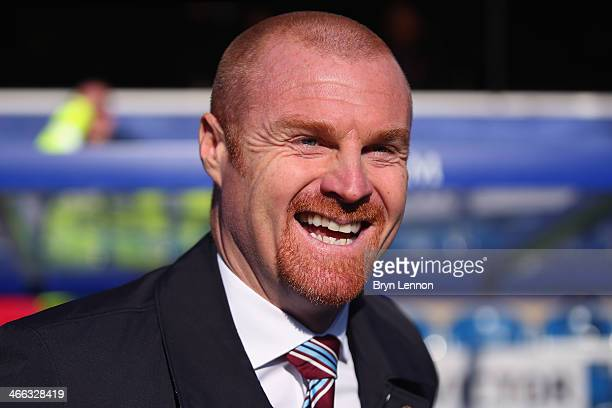 Burnley Manger Sean Dyche looks on prior to the Sky Bet Championship match between Queens Park Rangers and Burnley at Loftus Road on February 1 2014...