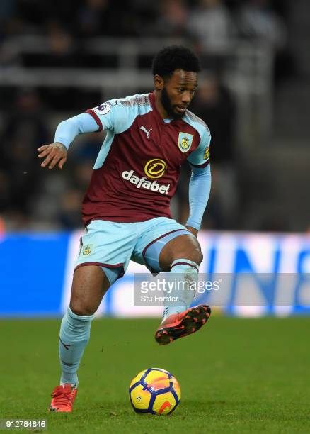 Burnley player GeorgesKevin N'Koudou in action during the Premier League match between Newcastle United and Burnley at St James Park on January 31...