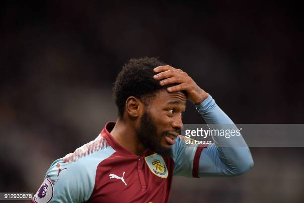 Burnley player GeorgesKevin N'Koudou reacts during the Premier League match between Newcastle United and Burnley at St James Park on January 31 2018...