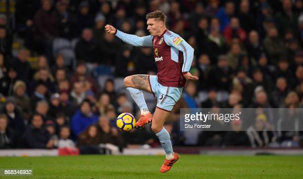 Burnley player Jeff Hendrick in action during the Premier League match between Burnley and Newcastle United at Turf Moor on October 30 2017 in...