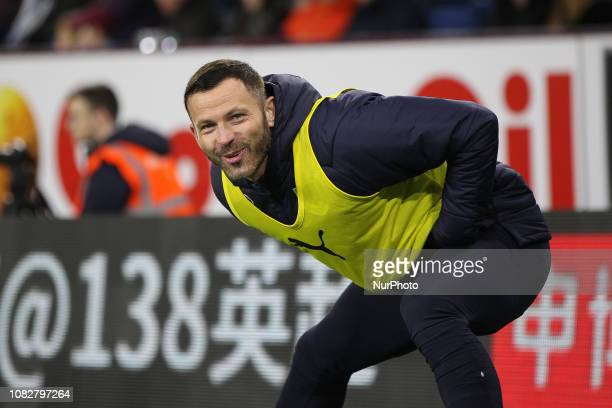 Burnley UK 26th November 2018 Phil Bardsley of Burnley warms up during during the Premier League match between Burnley and Newcastle United at Turf...