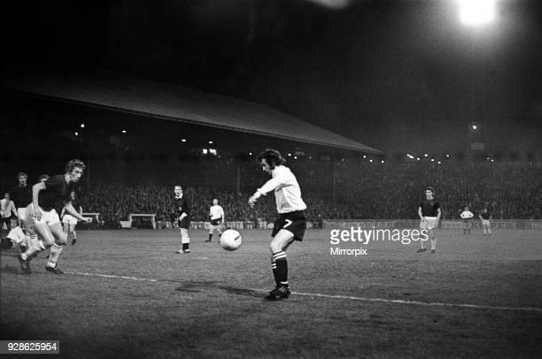 Burnley v Middlesbrough, Score 0-0, League Division Two. Eric McMordie No 7 of Middlesbrough shoots for goal, 26 September 1972.