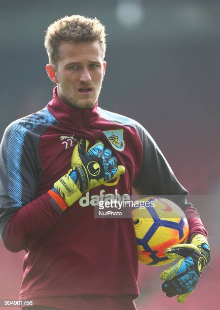 Burnley's Anders Lindegaard during Premier League match between Crystal Palace and Burnley at Selhurst Park Stadium London England on 16 Jan 2018