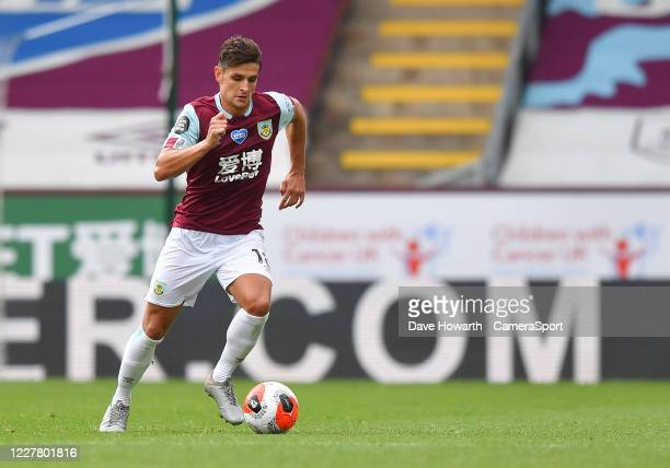Burnley's Ashley Westwood during the Premier League match between Burnley FC and Brighton Hove Albion at Turf Moor on July 26 2020 in Burnley United...