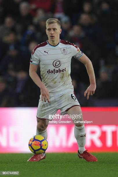 Burnley's Ben Mee during the Premier League match between Crystal Palace and Burnley at Selhurst Park on January 13 2018 in London England