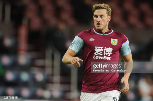 Burnley's Chris Wood during the Premier League match between Burnley and Southampton at Turf Moor on September 26 2020 in Burnley United Kingdom