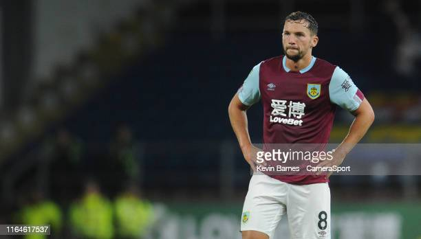 Burnley's Danny Drinkwater during the Carabao Cup Second Round match between Burnley and Sunderland at Turf Moor on August 28 2019 in Burnley England
