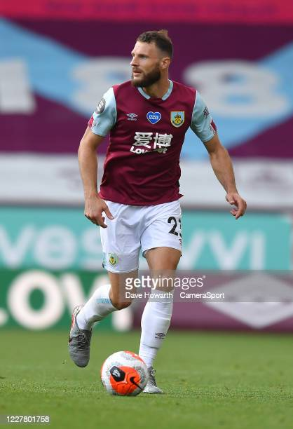 BURNLEY ENGLAND JULY Burnley's Erik Pieters during the Premier League match between Burnley FC and Brighton Hove Albion at Turf Moor on July 26 2020...