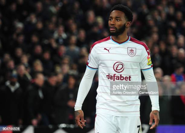 Burnley's GeorgesKevin Nkoudou during the Premier League match between Crystal Palace and Burnley at Selhurst Park on January 13 2018 in London...