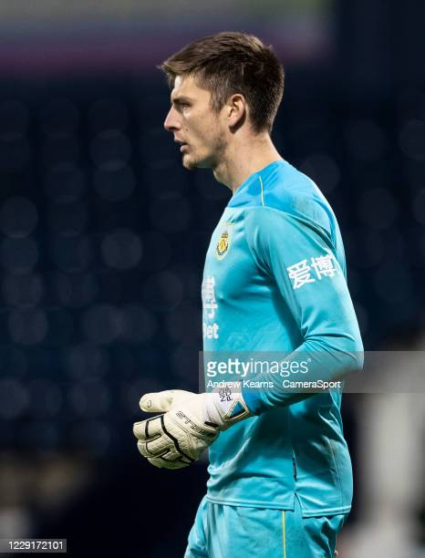Burnley's goalkeeper Nick Pope looks on during the Premier League match between West Bromwich Albion and Burnley at The Hawthorns on October 19 2020...