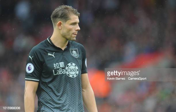 Burnley's James Tarkowski during the Premier League match between Southampton FC and Burnley FC at St Mary's Stadium on August 12 2018 in Southampton...