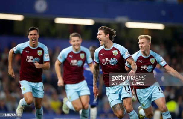 Burnley's Jeff Hendrick celebrates scoring his side's first goal of the game Chelsea v Burnley Premier League Stamford Bridge