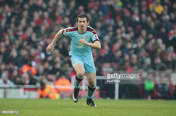 Burnley's Joey Barton during the Premier League match between Arsenal and Burnley at The Emirates Stadium London on 22 Jan 2017