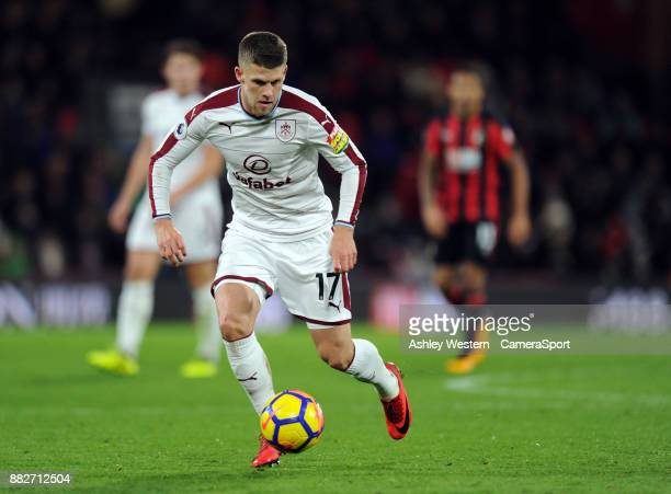 Burnley's Johann Gudmundsson during the Premier League match between AFC Bournemouth and Burnley at Vitality Stadium on November 29 2017 in...