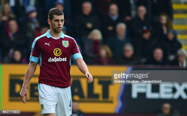 Burnley's Jon Flanagan during The Emirates FA Cup Fifth Round match between Burnley and Lincoln City at Turf Moor on February 18 2017 in Burnley...