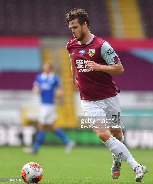 Burnley's Kevin Long during the Premier League match between Burnley FC and Brighton Hove Albion at Turf Moor on July 26 2020 in Burnley United...