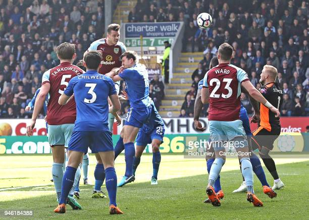 BURNLEY ENGLAND APRIL Burnley's Kevin Long scores his side's second goal during the Premier League match between Burnley and Leicester City at Turf...