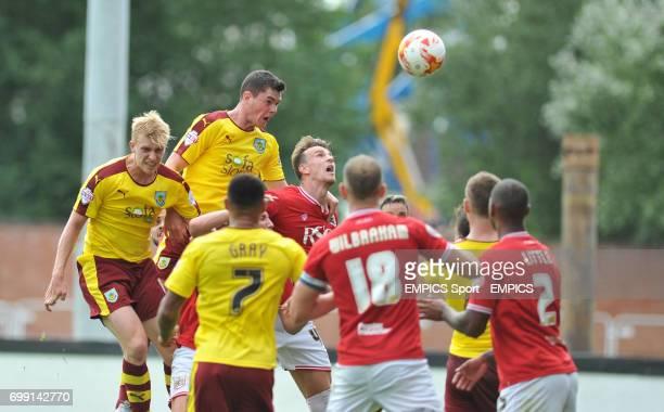 Burnley's Michael Keane scores a goal to make it 2-0 against Bristol City.