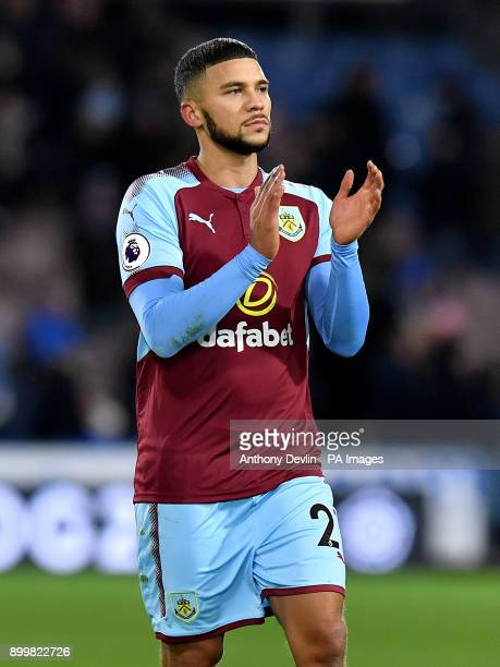 Burnley's Nahki Wells acknowledges the fans after the final whistle during the Premier League match at John Smith's Stadium Huddersfield