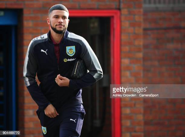 Burnley's Nahki Wells arrives at Selhurst Park during the Premier League match between Crystal Palace and Burnley at Selhurst Park on January 13 2018...