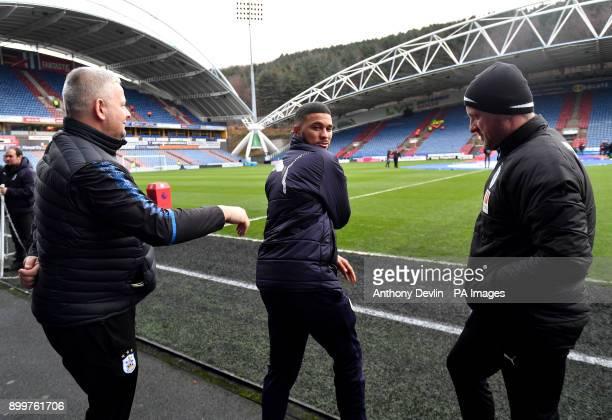 Burnley's Nahki Wells before the Premier League match at John Smith's Stadium Huddersfield