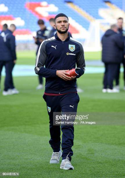Burnley's Nahki Wells inspects the pitch during the Premier League match at Selhurst Park London