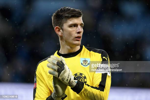 Burnley's Nick Pope during the FA Cup Fourth Round match between Manchester City and Burnley at Etihad Stadium on January 26 2019 in Manchester...