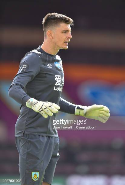 Burnley's Nick Pope during the Premier League match between Burnley FC and Brighton Hove Albion at Turf Moor on July 26 2020 in Burnley United Kingdom