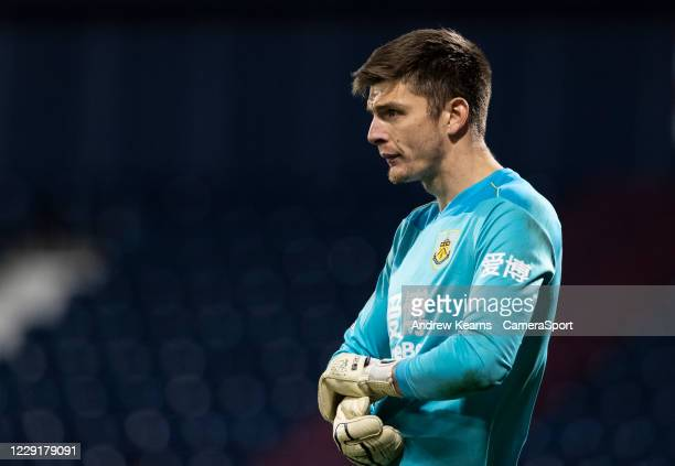 Burnley's Nick Pope looks on during the Premier League match between West Bromwich Albion and Burnley at The Hawthorns on October 19 2020 in West...