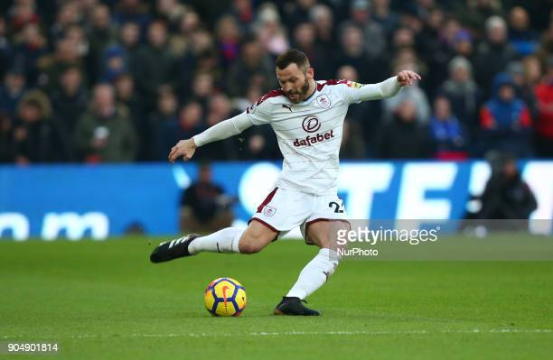 Burnley's Phil Bardsley during Premier League match between Crystal Palace and Burnley at Selhurst Park Stadium London England on 16 Jan 2018