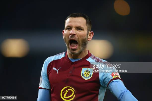 Burnley's Phil Bardsley during the Premier League match at Turf Moor Burnley